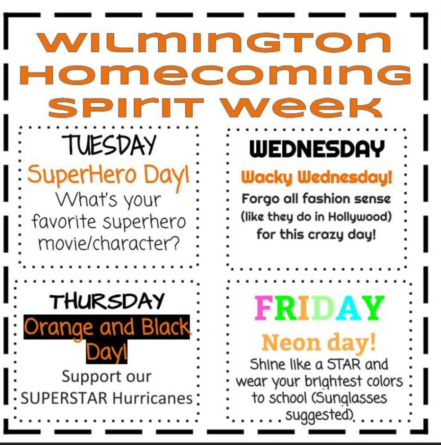 homecoming spirit week 2018
