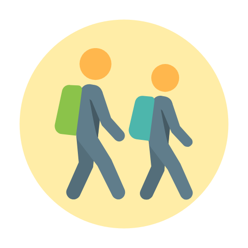 Yellow zone icon with link to document with details.